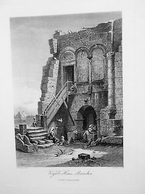 VIRGIL'S HOUSE BRINDISI  Werner Bertrand  from Picturesque Europe 1875