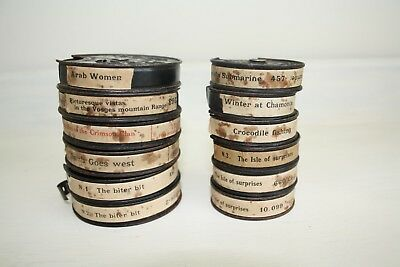 Collection of 12 Vintage Pathescope 9.5mm films circa 1920/30's