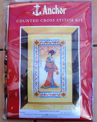"Anchor Counted Cross Stitch Kit PCE828 ""Japanese Lady"""