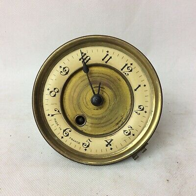 Antique Mantle Clock Movement With Enamel Face For Repair