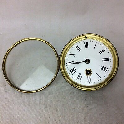 Antique Mantle Clock Movement With Good Enamel Face For Repair. #2