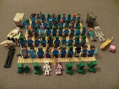 Huge Lot of over 60 Lego Minifigures Minecraft weapons & More VINTAGE RARE #7