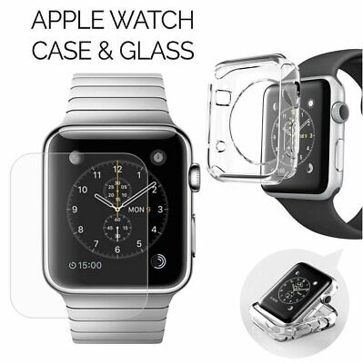 Apple Watch Series 1 / 2  Tempered Glass Screen Protector+Soft TPU Case 38/42mm