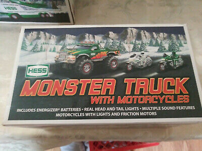 Hess 2007 monster truck with motorcycle Nice!!! Combined shipping !!!