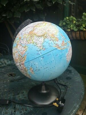 Tecnodidattica fully illuminated globe approx 40cm high Italian made Excellent