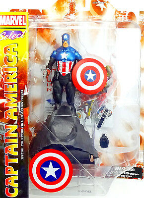 "Marvel Diamond Select Toys Captain America Actionfigure / Pvc Statue 8"" Inch"