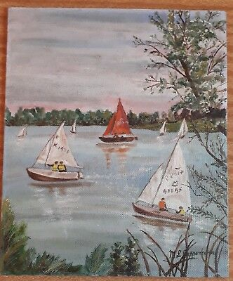 Original Vintage Painting On Board Signed M P Peppercorn
