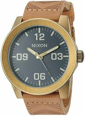 Nixon Men's A243-2731 'Corporal Navy' Brown Leather Watch