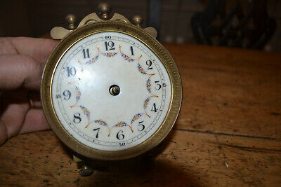 early 400 day clock movement, good enamel dial,for restoration