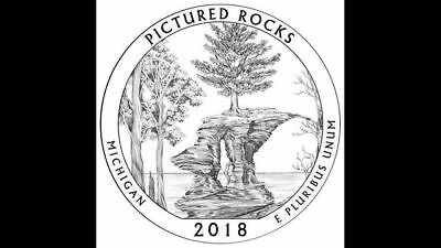 2018 S Pictured Rocks National Lakeshore Quarter Deep Cameo Gem Proof No Reserve
