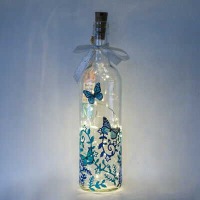 Butterfly Gifts For Her, Blue Bottle Light, Woman, Girl, Birthday, Christmas