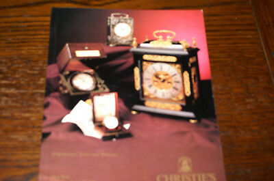Iimportant Clocks And Watches  Christie's Sale Catalogue New York 1991