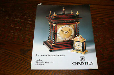 Christies Sale Catalogue Important Clocks And Watches London 1990