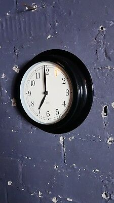 Retro Style Station school clock, battery operated