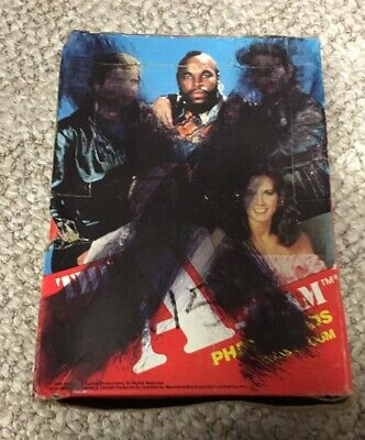 1983 Topps A-Team Unopened Wax Partial Box with (31) Packs of Cards-Stickers