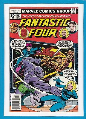 Fantastic Four #182_May 1977_Very Fine Minus_Mad Thinker_Bronze Age Marvel!