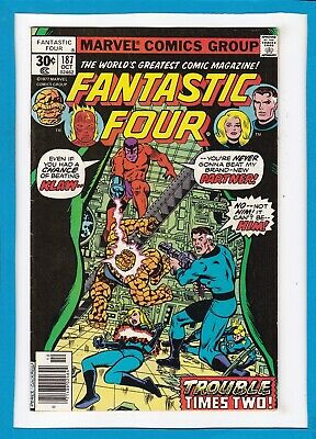 """Fantastic Four #187_October 1977_Vf/nm_Klaw_""""trouble Times Two""""_Bronze Age!"""