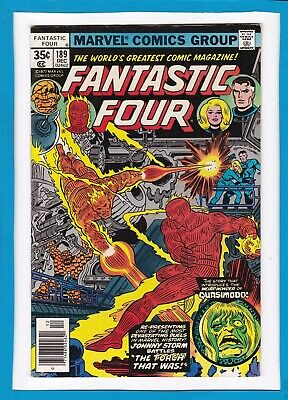 """Fantastic Four #189_December 1977_Very Fine+_""""the Torch That Was""""_Bronze Age!"""