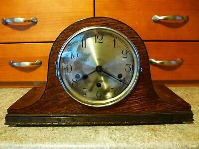 1936 foreign ANTIQUE HALLER WESTMINSTER CHIMES MANTLE CLOCK 12cm fr RESTORE