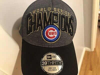 Chicago Cubs New Era 2016 World Series Champions Locker Room Players Hat Cap 7369cde3a78