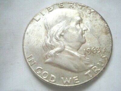 1963 P Franklin half dollar Nice Circulated U.S. 90% silver coin