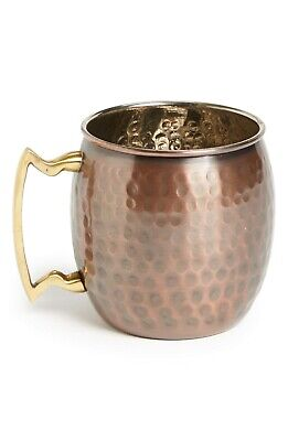 Beautiful Hand Hammered Antique Finish Copper Moscow Mule Mug (16 Oz)