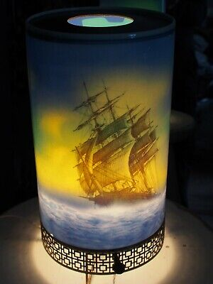 Vintage 1950s Motion Lamp L.A.Goodman Ship and Lighthouse
