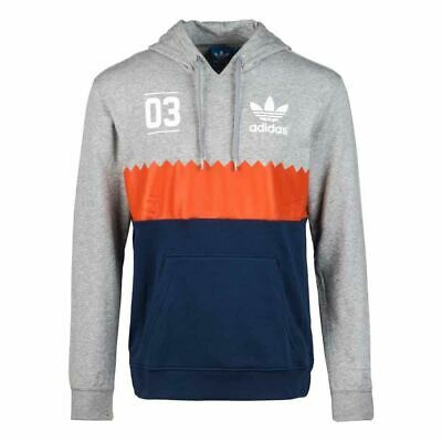Details about Adidas Originals Serrated Edge Hoodies Men's Trefoil Hooded Sweatshirt SALE