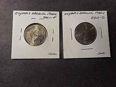 2 2011 AMERICA THE BEAUTIFUL QUARTERS (D&P) OLYMPIC. N.P. in UNC. CONDITION