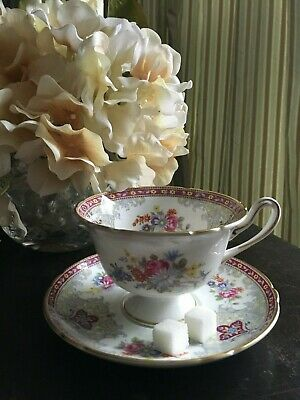 """Bone China Tea Cup and Saucer set, made in England by Shelley. """"Georgian"""" design"""