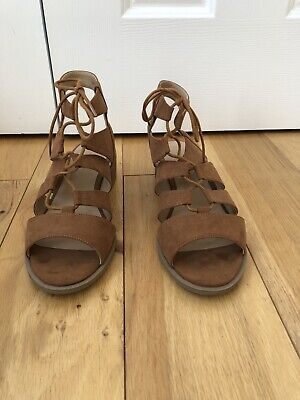 New Look Size 6 Sandals Lace Up Worn Once