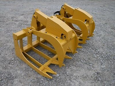"CAT Skid Steer Attachment - 72"" Severe Duty Root Grapple Bucket - Ship $199"