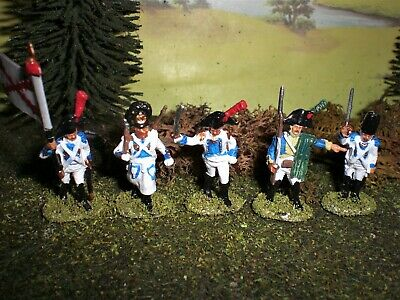 Painted Spanish Infantry Command. Scale 1.72.