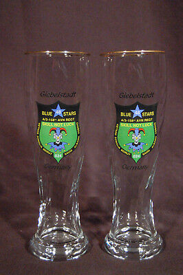 A/3-158th Aviation REGT 48th Blue Stars Assault Helicopter Co Beer Glasses