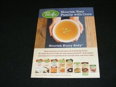 PACIFIC Foods magazine clipping ad from 2016
