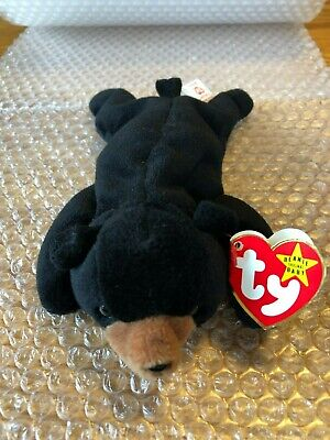 467468da635 Ty Beanie Baby Blackie The Bear 1994 Retired with errors Rare Waterlooville