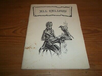 Booklet. All Hallows Journal of the Ghost Story Society Issue One 1989 Valentine