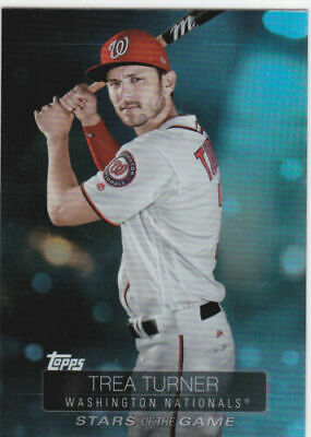 "2019 Topps Series 1 ""Stars of the Game"" Trea Turner #SSB-12"