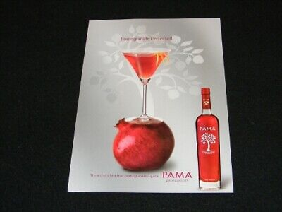 PAMA magazine clipping Pomegranate Liqueur ad from 2006