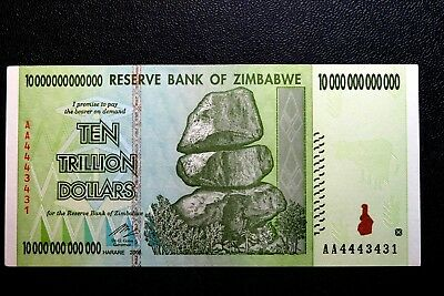 "Zimbabwe ""brand New"" Ten Trillion Dollars Banknote ~ Buy It Now Only £6.99"