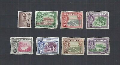 Dominica – 8 Stamps from 1938-47 Issue – Mint – Never Hinged