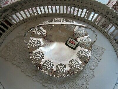 Queen Anne Silver Plated Basket Mayell & Co Made in England Original Tags!