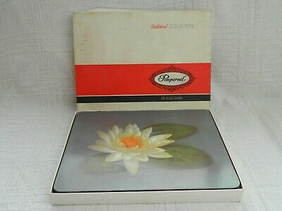 Pimpernel Set of 6 Vintage Water Lily Placemats Table Mats Retro