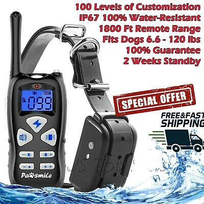 Petrainer Remote Dog Training Collar Rechargeable Waterproof Shock Electric 1800