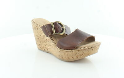 f44a4a729732 NIB BORN WOMEN S Emmy Band Leather Wedge Sandals in Taupe -  85.99 ...