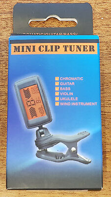 ENO ET-37 Mini Clip-on Chromatic and Guitar, String, Wind, Brass etc. Tuner