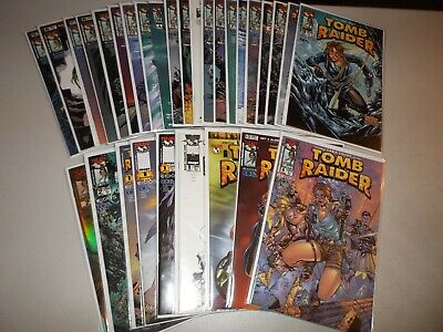 Tomb Raider #0, 1-19 (Complete lot of 30) Lots of variant covers Preview, Gold