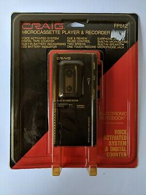 Craig Micro Electronic Notebook Voice Activated Micro Cassette Recorder FP512