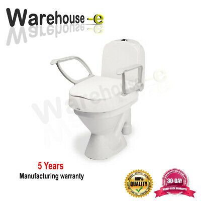 toilet raiser with armrests Toilet seat raiser with 3 adjustable height levels.