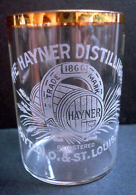 Hayner Distilling Company - Pre-Prohibition - Shot Glass - Dayton OH St Louis MO
